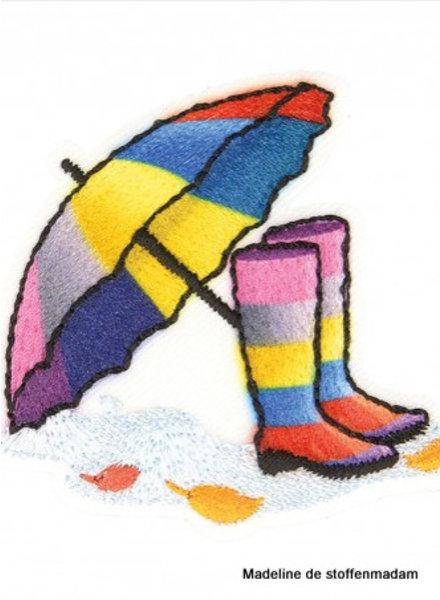 M boots and umbrella rainbow  - application 001