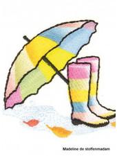 M botjes en paraplu regenboog - applicatie 002