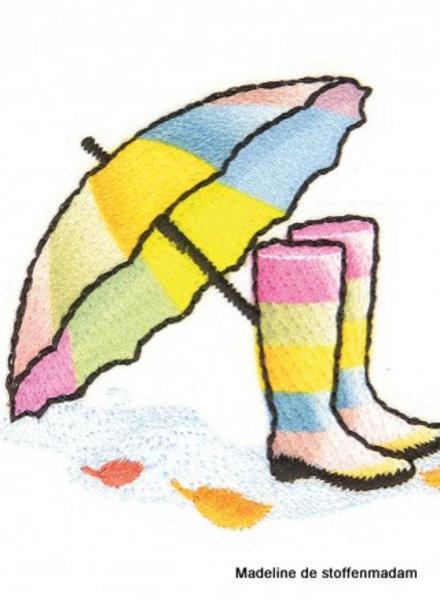 M boots and umbrella rainbow  - application 002