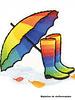 M botjes en paraplu regenboog - applicatie 003