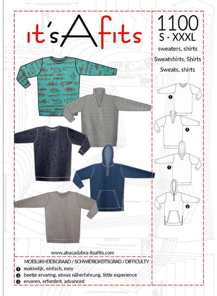 it's a fits 1100 - sweater and hoodie - men
