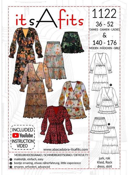 it's a fits 1122 jurk en rok - dames en tieners