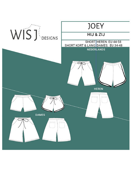 Wisj patterns Joey short - ladies and men