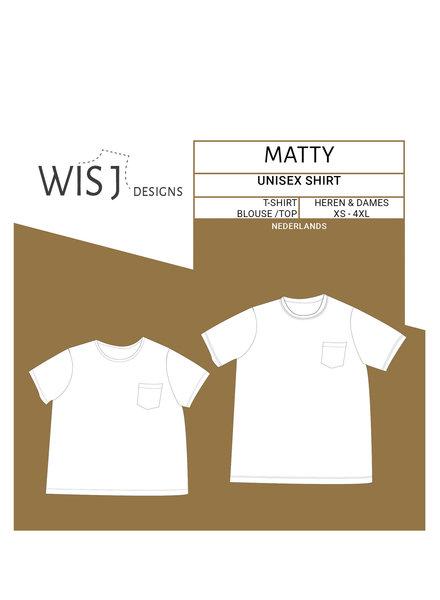 Wisj patterns Matty t-shirt of blouse  - dames en heren