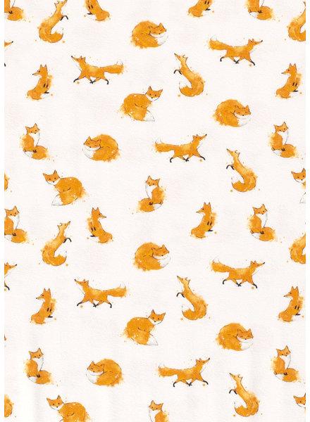 M speelse vosjes - gebroken wit - tricot