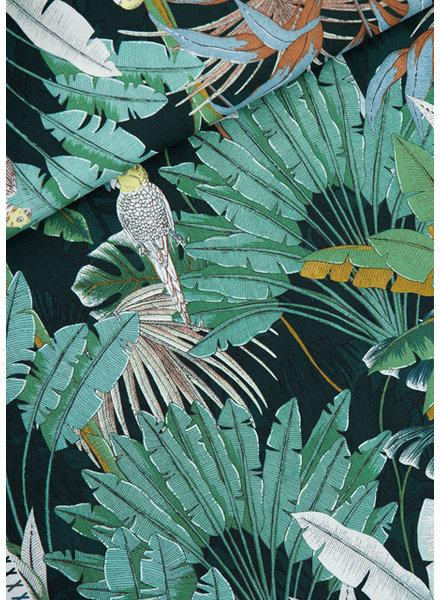 See You at Six jungle green gables- Katoen Canvas Gabardine Twill