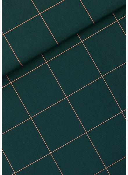 See You at Six thin grid XL green gables - Katoen Canvas Gabardine Twill