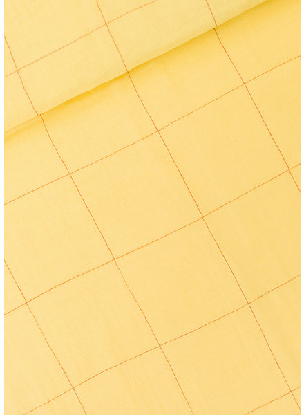 See You at Six Thin Grid - XL - Popcorn Yellow -Double Gauze