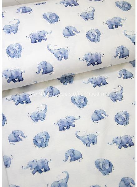 M blauwe olifanten - tricot