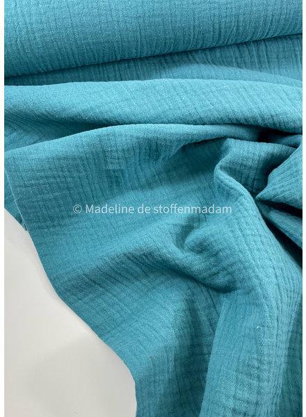dusty blue - solid tetra double gauze