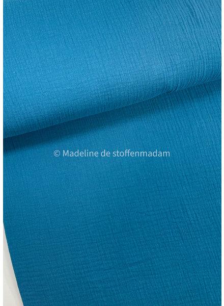 petrol blue - solid tetra double gauze