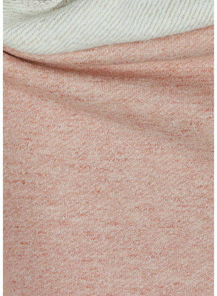 M roze gemêleerd - GOTS - stevige french terry