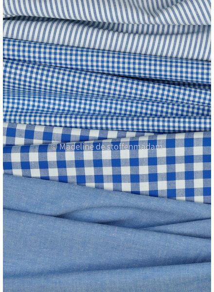 M vichy squares sky blue - soft cotton