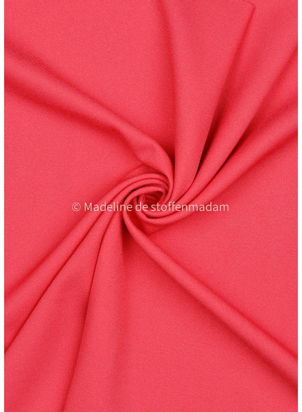 M coral - viscose crêpe with 3% elasthan
