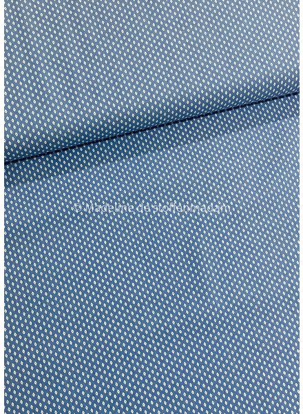 hemdenkatoen fijn motiefje - blauw