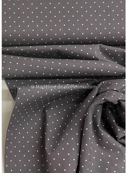 grey dots - cotton