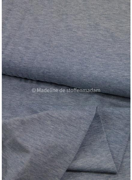 M jeansblauw melange - polo pique tricot