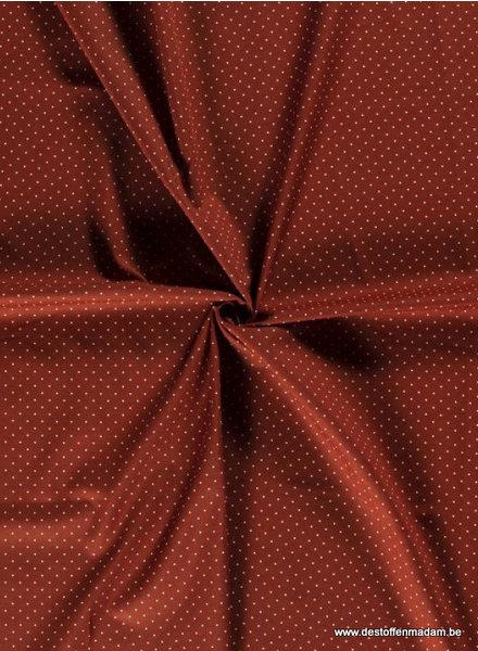 rust dots - cotton