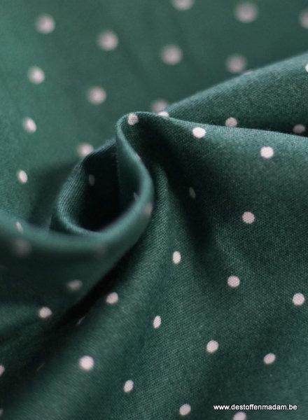 mint dots - cotton