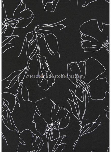 M black poppy - crêpe met elasthan