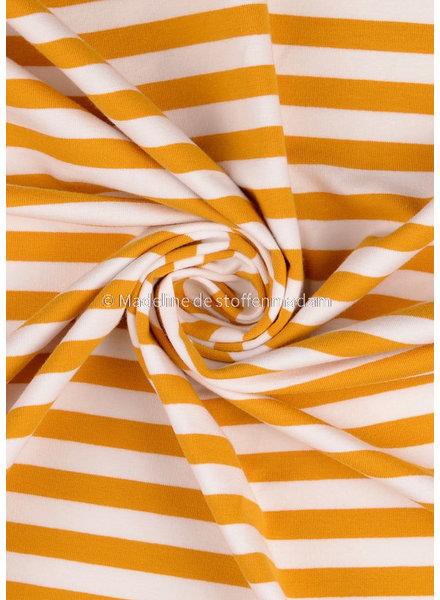 M organic - french terry - ochre stripes