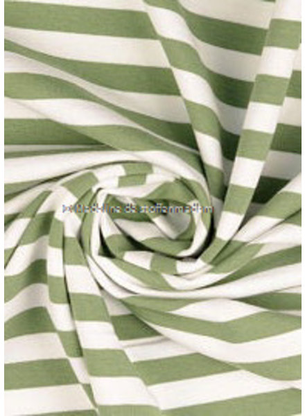 M organic - french terry - green stripes