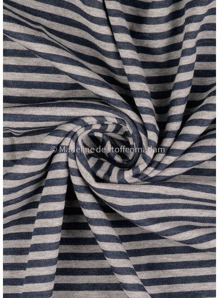 M blue stripes - interlock