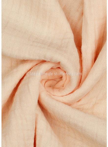 M soft salmon muslin fabric