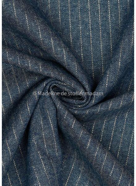 M mooie katoen jeans met subtiele koper lurexdraad  5oz.