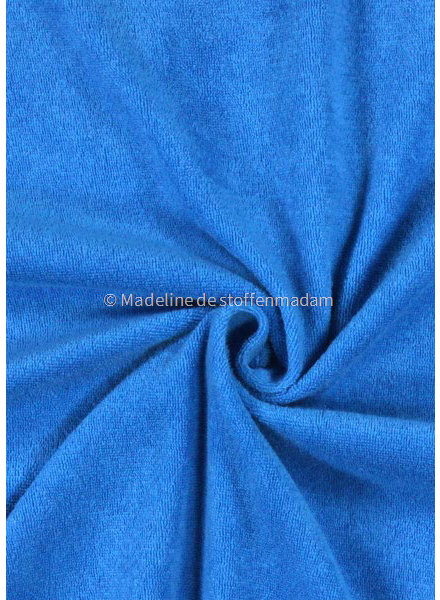 M turquoise blauw - rekbare badstof - spons