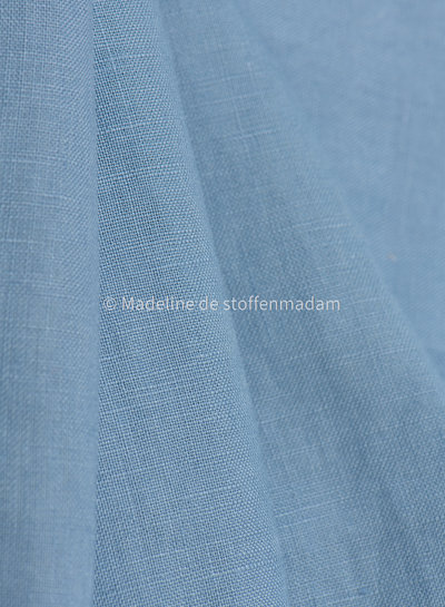 M blauw - soepelvallend 100% linnen