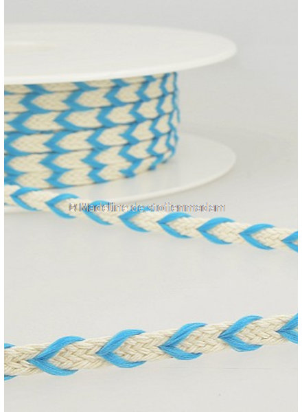 M two tone  braided string blue - 6 mm - color 20