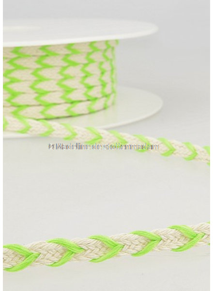 M two tone  braided string fluo green- 6 mm - color 102
