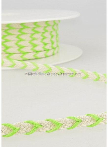 M two tone touw fluo groen- 6 mm kleur 102