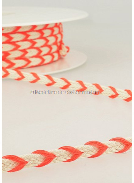 M two tone  braided string fluo pink - 6 mm - color 105