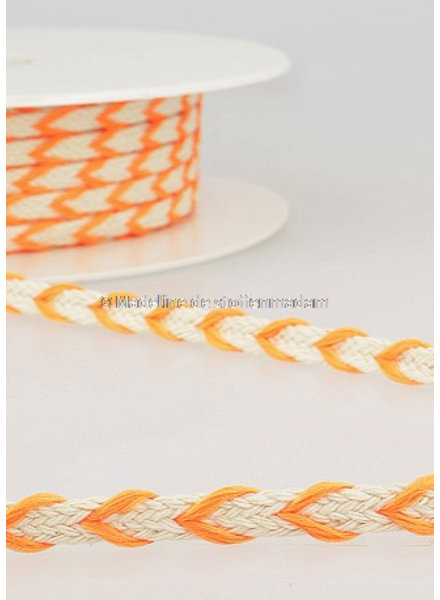 M two tone  braided string fluo orange - 6 mm - color 103
