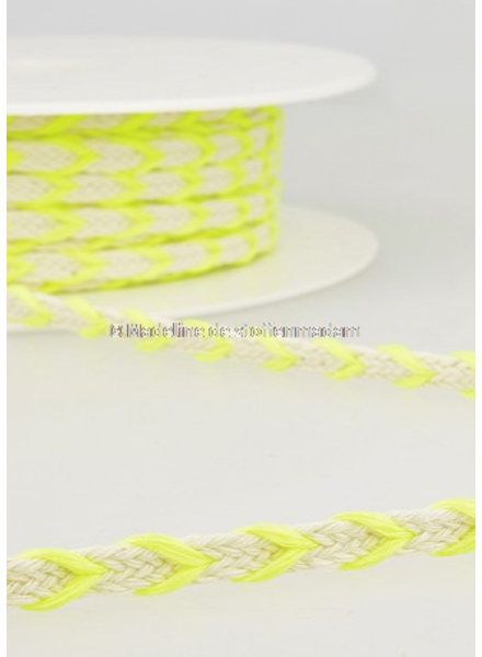 M two tone  braided string neon yellow - 6 mm - color 101