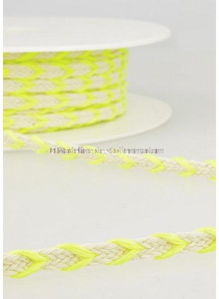 M two tone touw fluo geel - 6 mm  - kleur 101