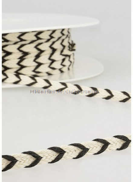 M two tone  braided string black - 6 mm - color 14