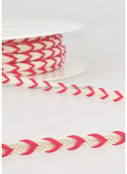 M two tone  braided string pink - 6 mm - color 78