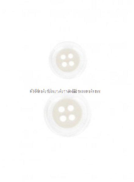 pastel cream button - 4 holes - 15 mm