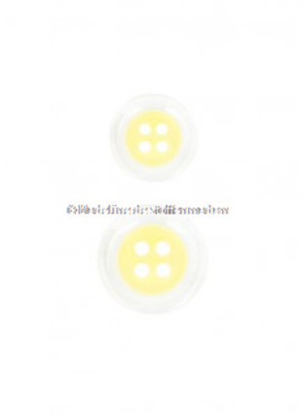 pastel yellow  button - 4 holes - 15 mm