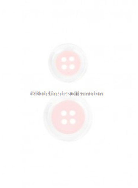 pastel pink button - 4 holes - 15 mm