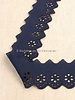 M navy - flower pattern embroidery 50 mm  - 1 row