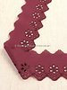 M burgundy - flower pattern embroidery 50 mm  - 1 row