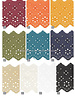 M rust - flower pattern embroidery 63 mm  - 2 rows