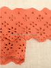 M roest - broderie lint 63 mm - dubbele rij bloemetjes