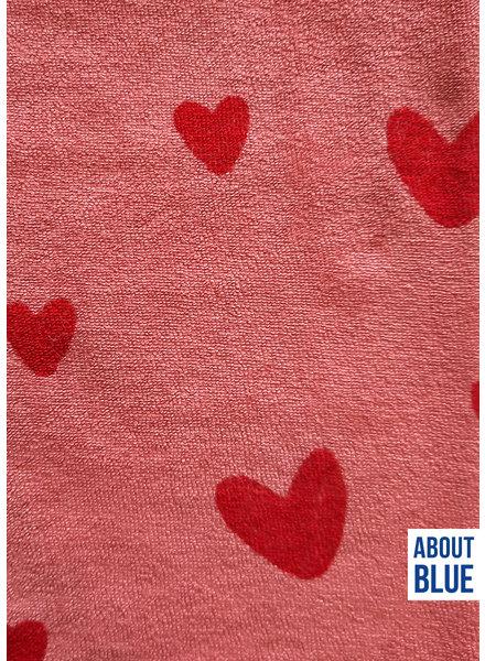 about blue fabrics Love u rose - sponge