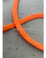 M neon oranje  - touw - 9 mm - kleur 203