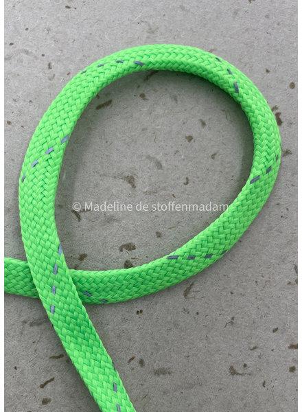 M neon groen  - touw - 9 mm - kleur 202